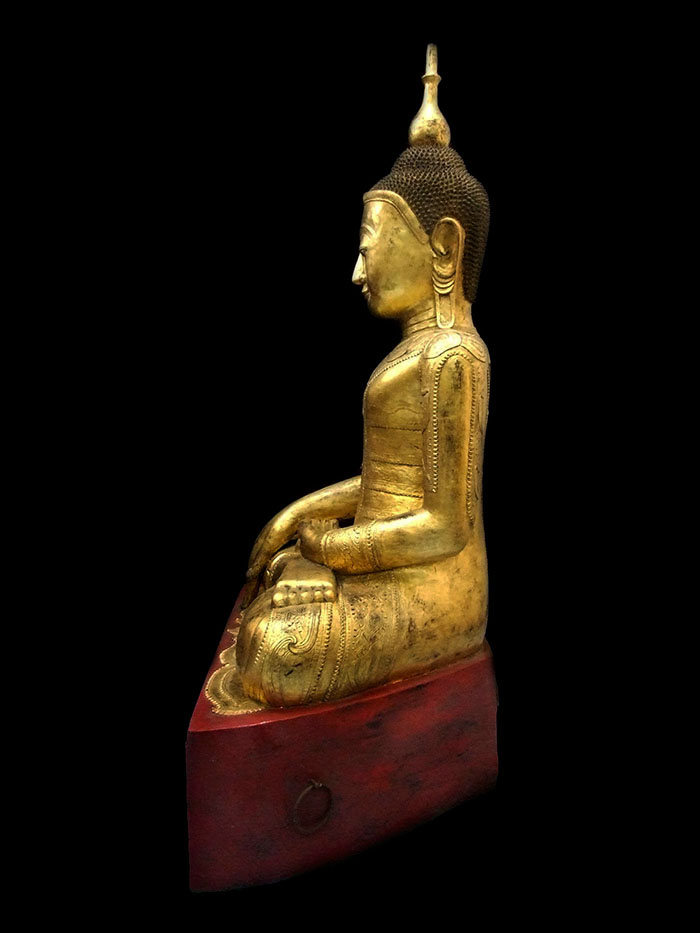 Extremely Rare Early 18C Wood Shan Buddha #WS.077-2