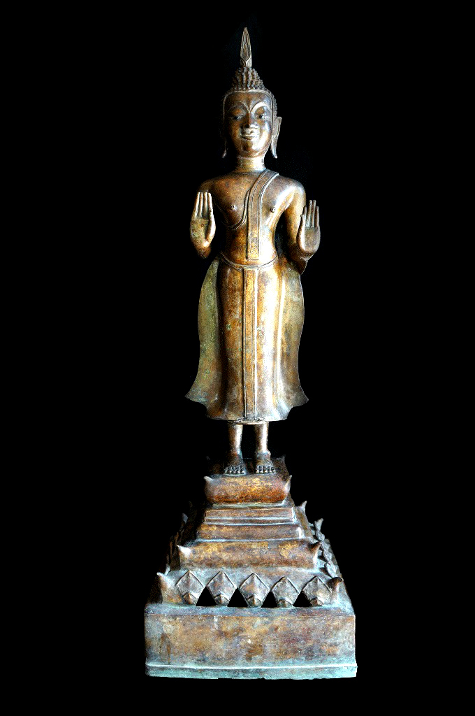 Extremely Rare Early 18C Bronze Laos Buddha #DW031