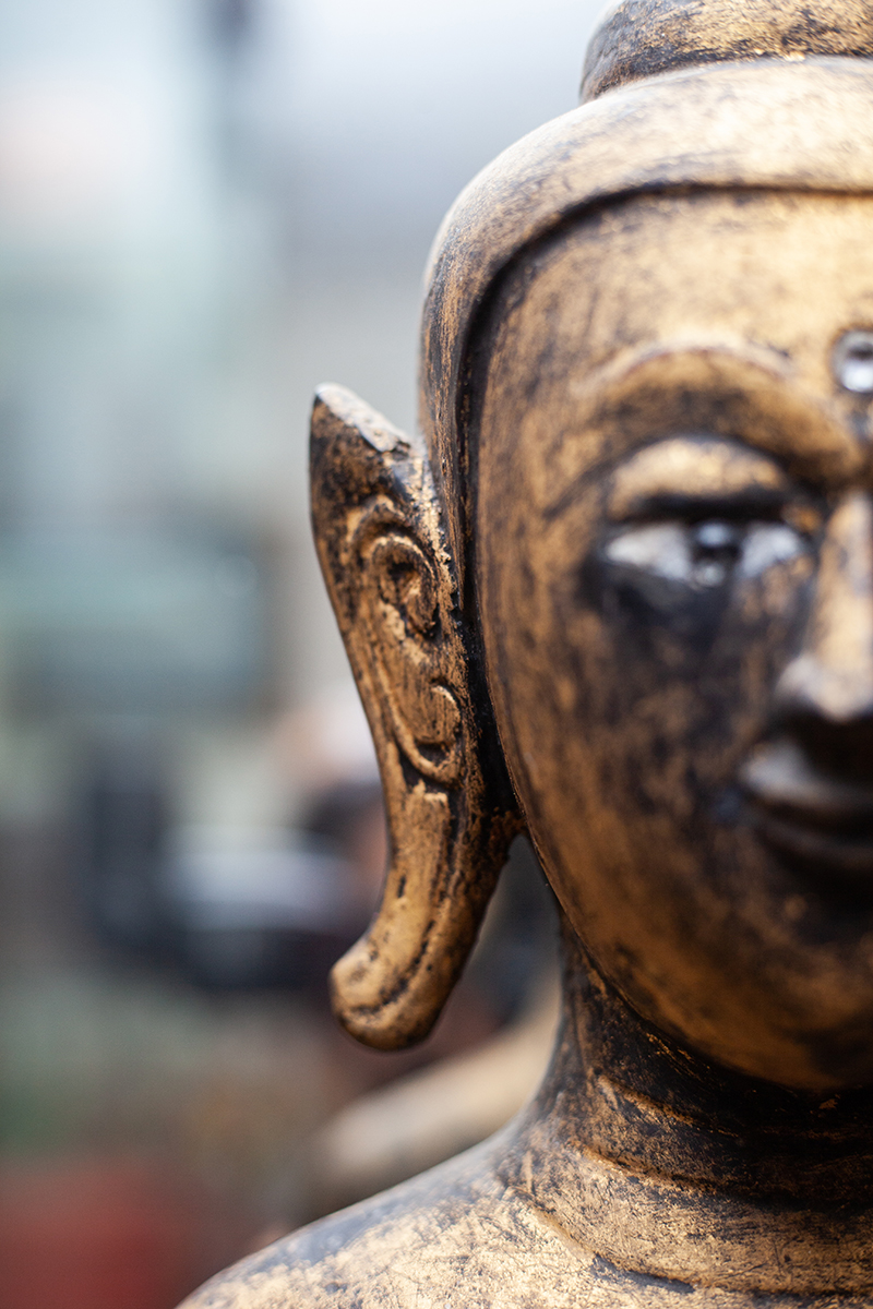 Extremely Rare 19C-20C A Pair of Wood Lanna Temple Buddhist Door . & Extremely Rare 19C-20C A Pair of Wood Lanna Temple Buddhist Door