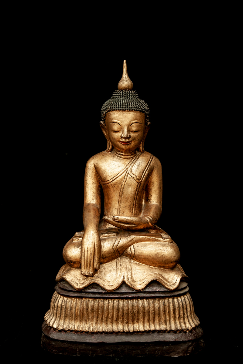 Extremely Rare 18C Lacquer Shan Burmese Buddha #ACM002