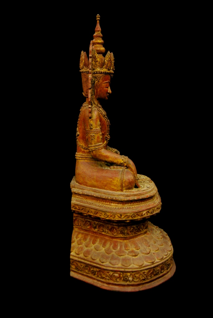 Extremely Rare 18C Lacquer Shan Burmese Buddha #BB338